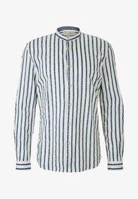 TOM TAILOR DENIM - Shirt - white blue shredded stripe - 4
