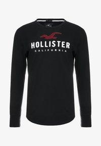 Hollister Co. - TECH LOGO - Long sleeved top - black - 3