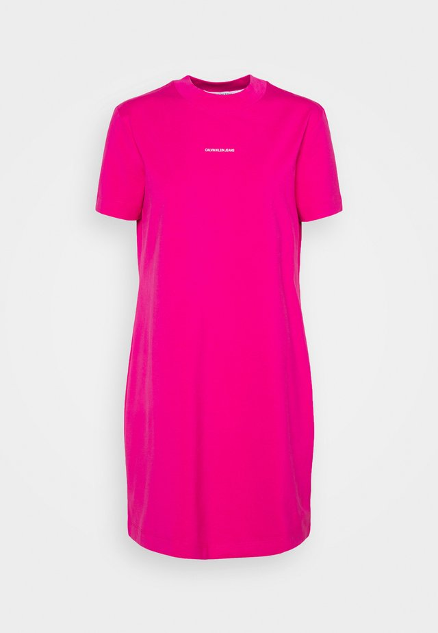 MICRO BRANDING DRESS - Jerseyjurk - party pink