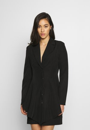 FRILL SUIT DRESS - Shift dress - black