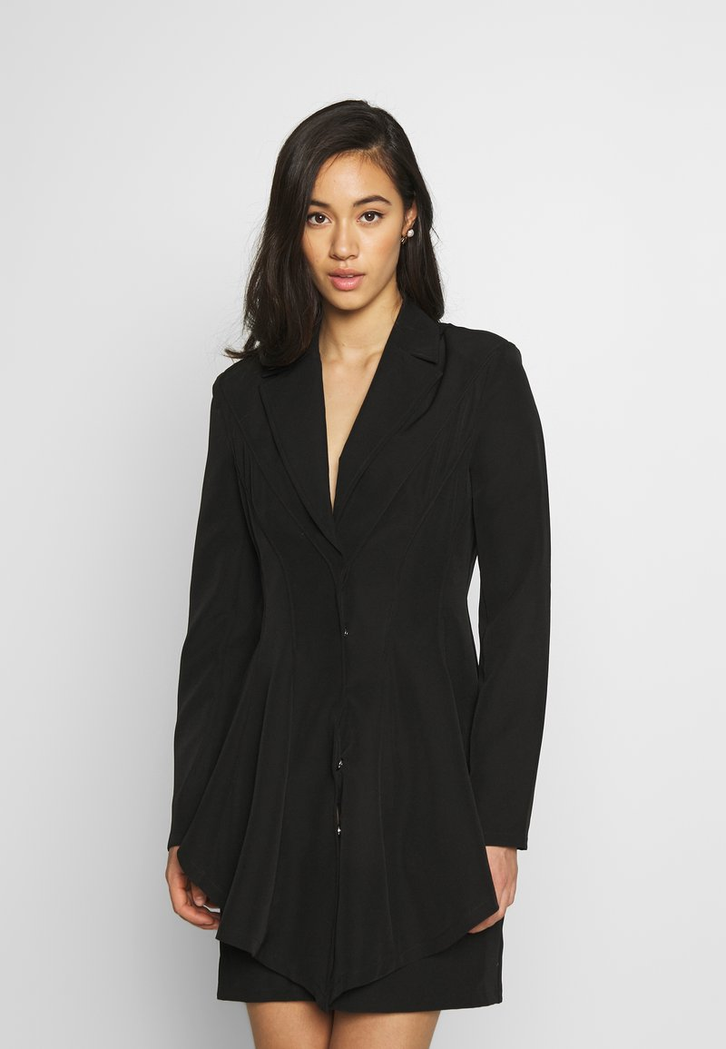 Nly by Nelly - FRILL SUIT DRESS - Shift dress - black