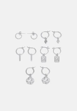 EARRINGS 5 PACK - Øreringe - silver-coloured