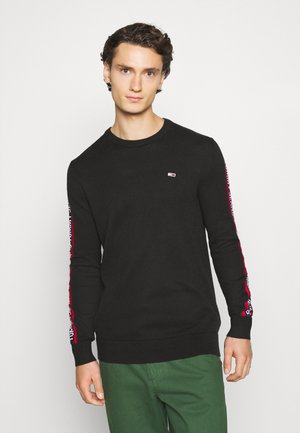 SLEEVE TAPE SWEATER - Felpa - black