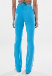Bershka - Trousers - blue - 2
