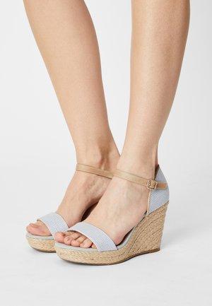 Sandales à plateforme - blue