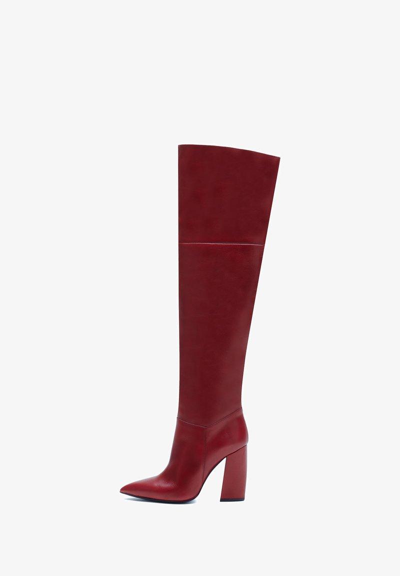 PoiLei - Overknee laarzen - rot