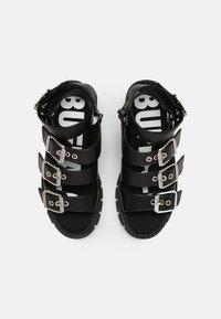 Buffalo - VEGAN RAJA - Platform sandals - black - 4