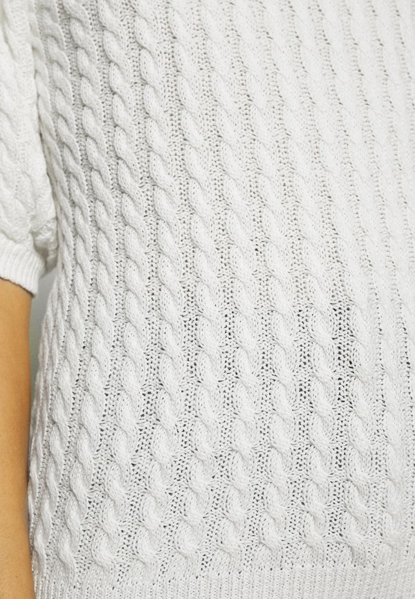 Moss Copenhagen KATTIE - T-shirt basic - egret Kolor jednolity Odzież Damska THMA YF 6