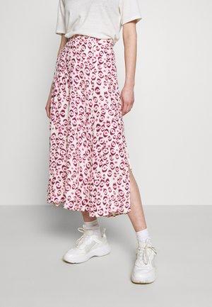 MEGAN LOU SKIRT - A-line skirt - breezy beige/cream white