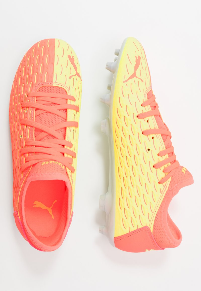 Puma - FUTURE 5.4 FG/AG - Moulded stud football boots - energy peach/fizzy yellow