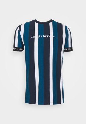 KINGSLEY - T-shirt print - blue/black/white