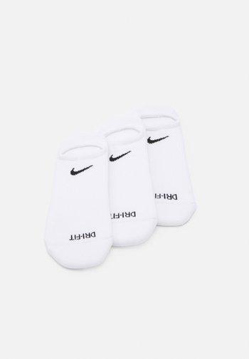 EVERYDAY PLUS CUSH FOOTIE 3 PACK UNISEX - Calcetines de deporte - white/black