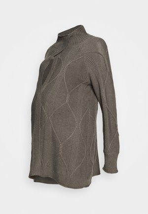 MLBIANCA CARRY ME - Cardigan - medium grey melange/melange