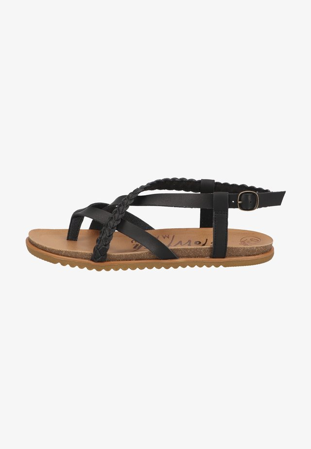 Teensandalen - black dyecut