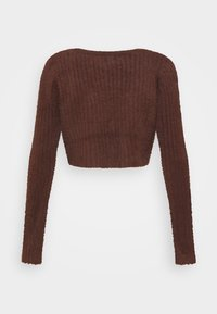 BDG Urban Outfitters - ROCHELLE FLUFFY CARDIGAN - Cardigan - chocolate - 1