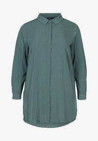 Zizzi - Button-down blouse - dark green - 3