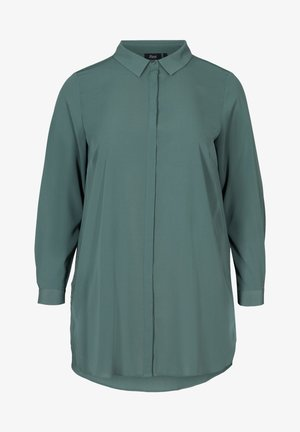 Button-down blouse - dark green