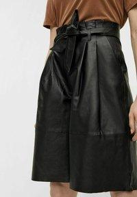 Object - OBJDANA - Leather trousers - black - 0