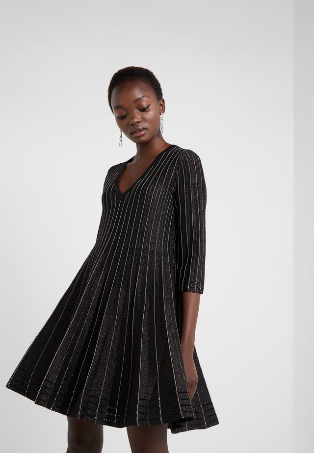 ABITO SCOLLO IN MAGLIA CON LUREX - Jumper dress - black lurex