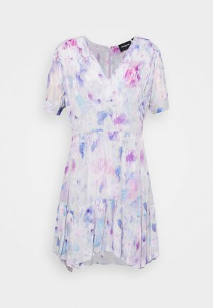 DRESS - Day dress - white / lavender