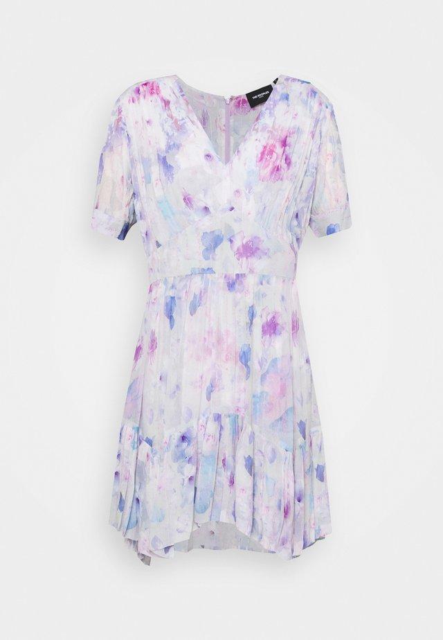 DRESS - Korte jurk - white / lavender