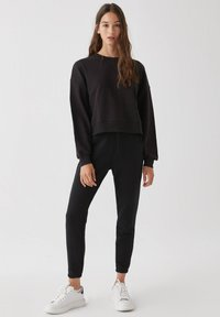 PULL&BEAR - 2 PACK - Felpa - black - 0