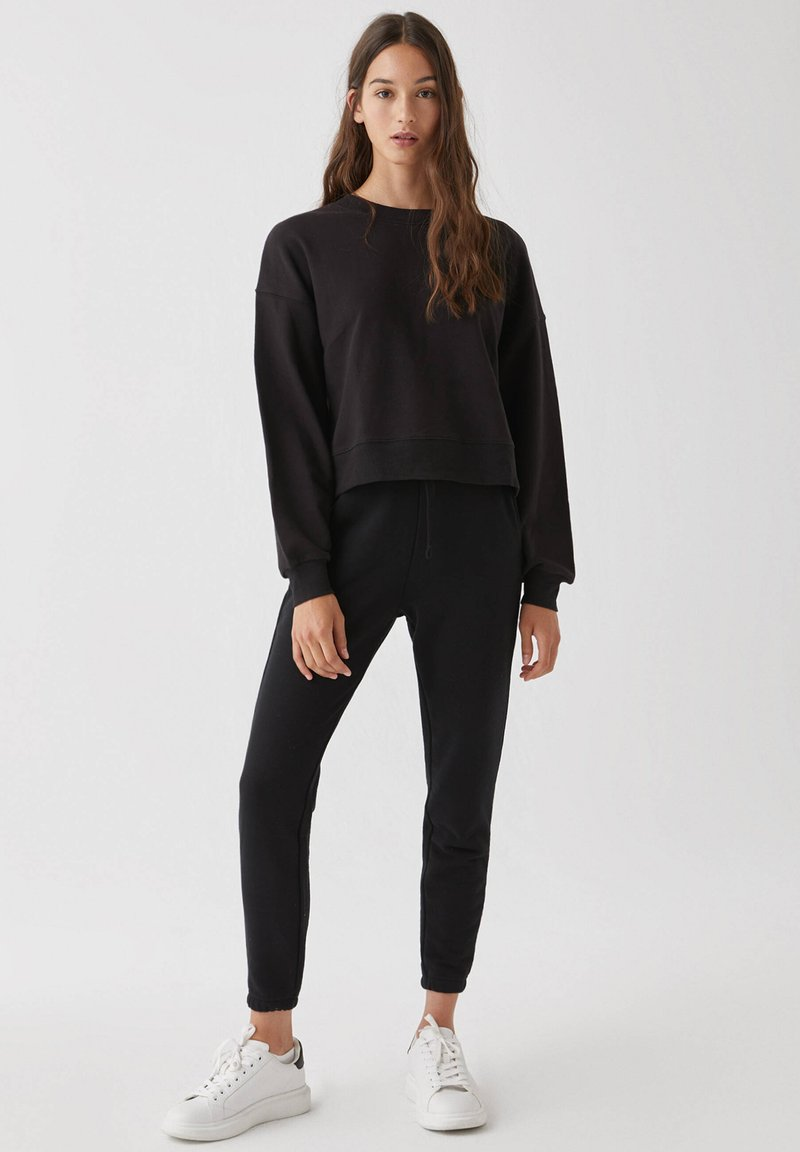 PULL&BEAR - 2 PACK - Felpa - black
