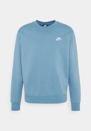 Sweater - cerulean/white