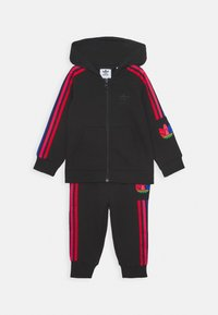 adidas Originals - TREFOILHOOD SET - Tracksuit - black - 0