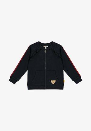 MIT NIEDLICHEM STERNCHENMOTIV - Zip-up hoodie - steiff navy