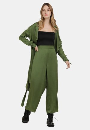 SATINMANTEL - Summer jacket - oliv