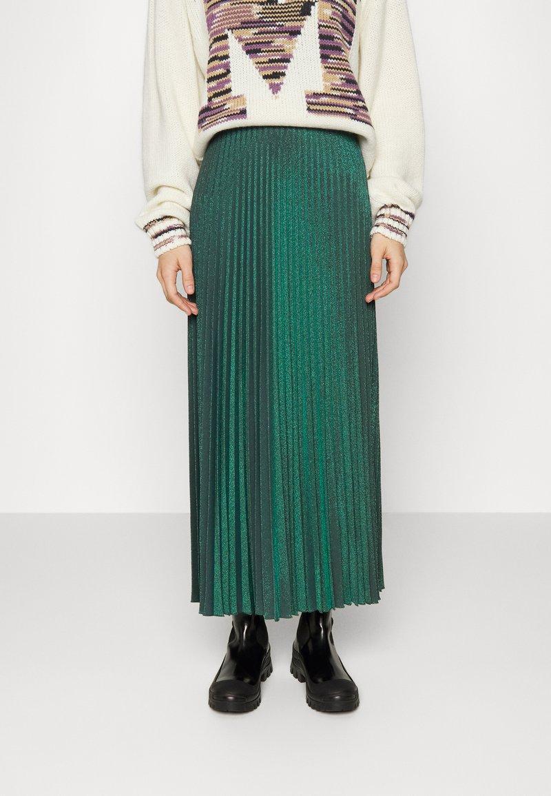 M Missoni - LONG SKIRT - Maxi skirt - carob