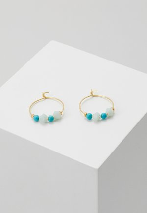 CHIP MINI HOOP EARRINGS - Náušnice - turq