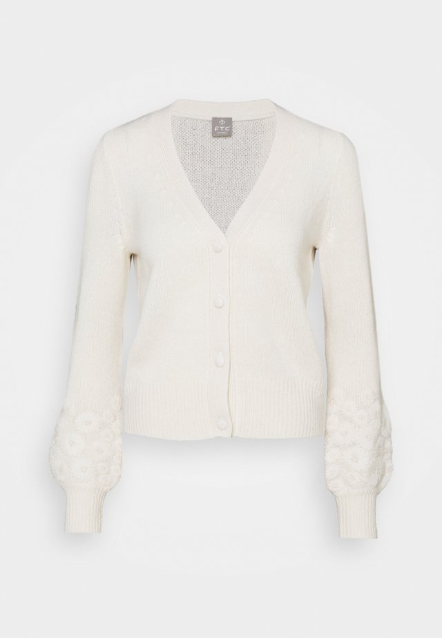 CARDIGAN - Strickjacke - pristine white