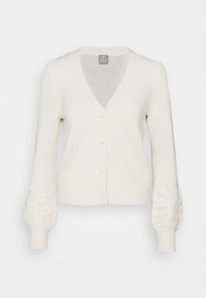FTC Cashmere - CARDIGAN - Kardigan - pristine white