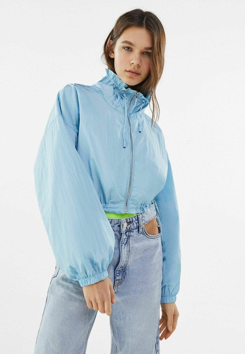 Bershka - Summer jacket - light blue