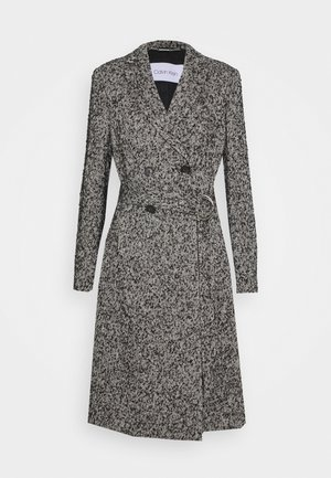 BOUCLE FEMME BELTED COAT - Mantel - black/ecru
