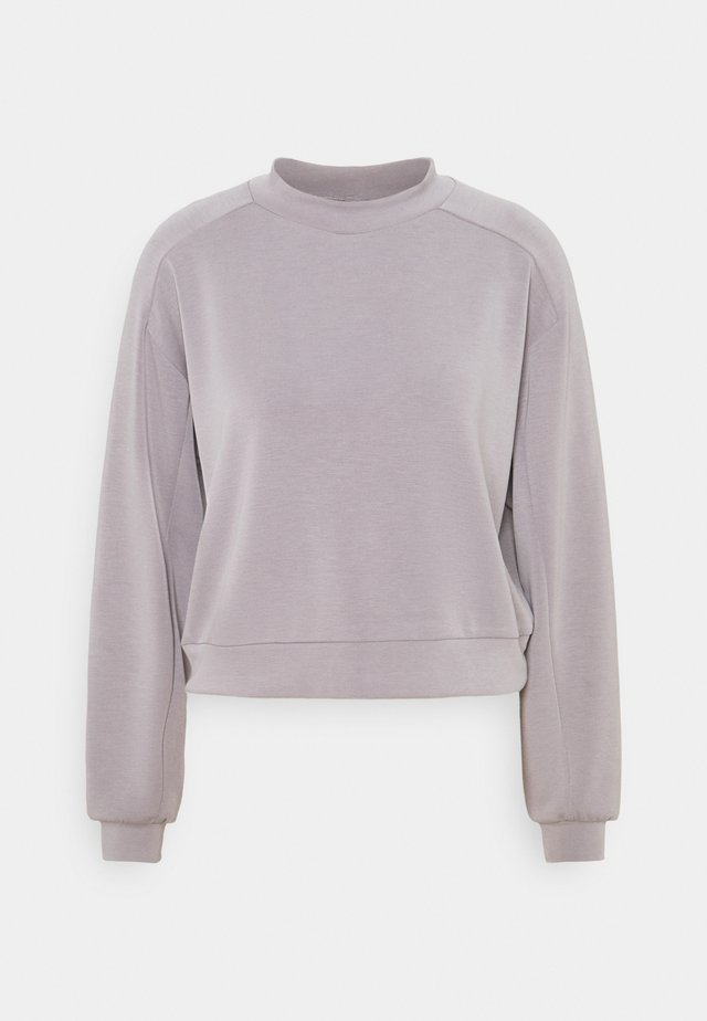 PCVIGGA CROPPED LOUNGE - Felpa - dark grey
