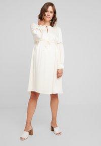 IVY & OAK Maternity - TUNIC DRESS - Vestito estivo - porcelain white - 1