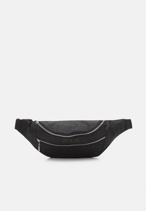 DOUBLE ZIPPER WAISTBAG - Bum bag - black