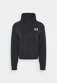 Under Armour - RIVAL WRAP NECK - Sweatshirt - black - 4
