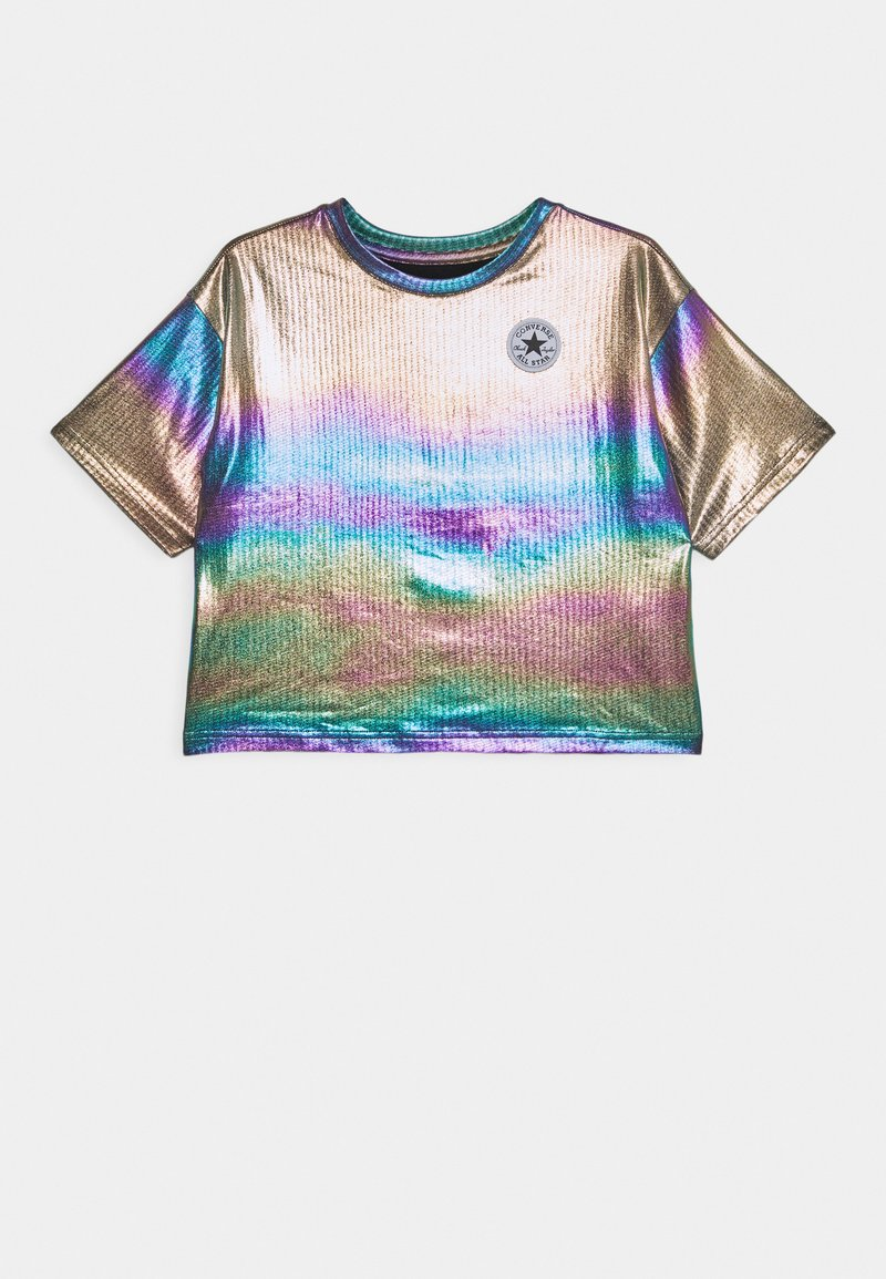 Converse - SHINY CHUCK PATCH TIE FRONT BOXY - T-Shirt print - multicolor