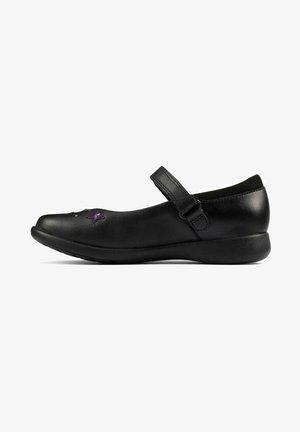 ETCH BRIGHT - Bailarinas con hebilla - black leather