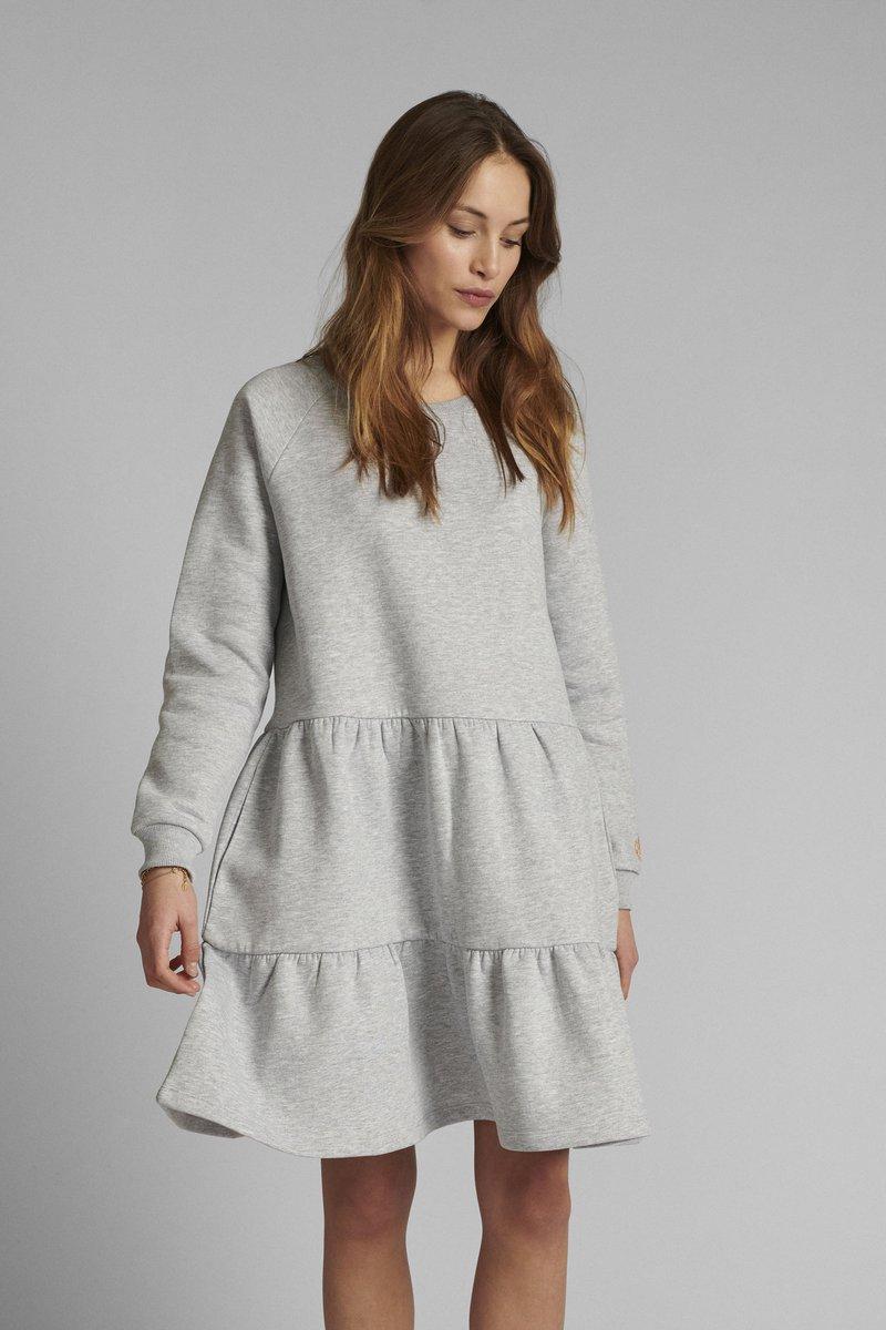 Nümph - NUNANNA DRESS - Day dress - light grey melange