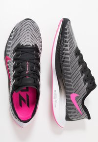 Nike Performance - ZOOM PEGASUS TURBO 2 - Neutrala löparskor - black/pink blast/atmosphere grey/white - 1