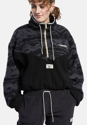 Fleece jumper - schwarz