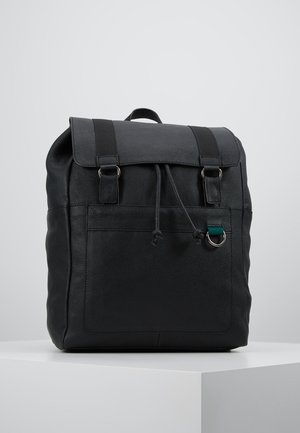 LEATHER UNISEX - Mochila - black