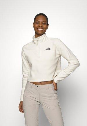 GLACIER CROPPED 1/4 ZIP - Fleece jumper - vintage white