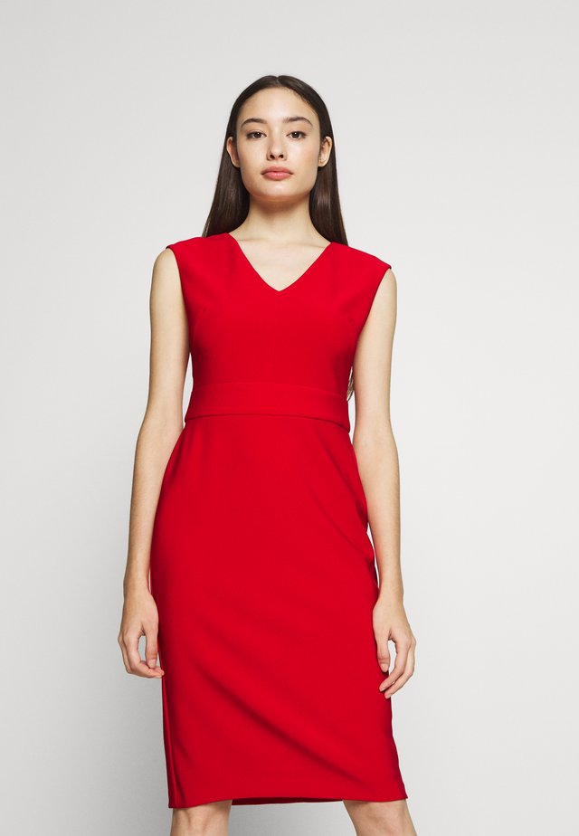 JANNETTE CAP SLEEVE DAY DRESS - Etuikjole - persimmon