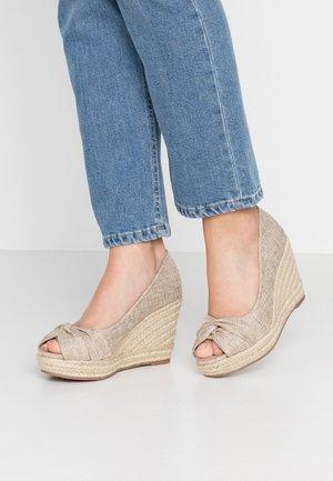 SWEETPEA - Høye hæler med åpen front - natural